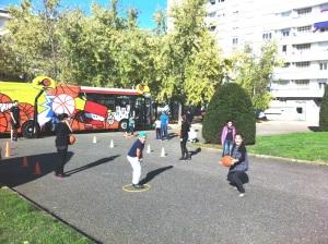 Animation de Basket aux Etats Unis à Lyon 8 ième